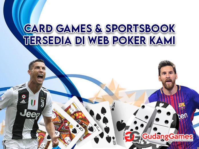 permainan card games dan sportbook tersedia di poker online